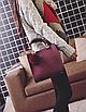 Сумка женская кожаная классическая Elli Бордовый, фото 4