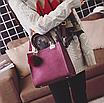 Сумка женская кожаная классическая Elli Бордовый, фото 2