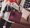 Сумка женская кожаная классическая Elli Бордовый, фото 3