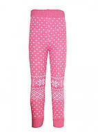 Детские гамаши для девочки Снежинки, розовые (7020000001)