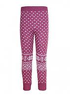 Детские гамаши для девочки Снежинки, фиолетовые (7020000002)