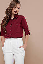 Женская блуза в деловом стиле из софта  Размеры S M L XL( 42,44,46,48), фото 2