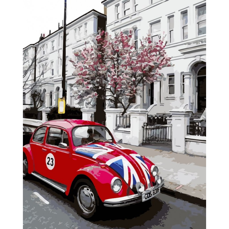 """Роспись по номерам """"В стиле Лондона"""" в кор. 40*50см, ТМ ArtStory Ухти-Тухти Кривой Рог"""
