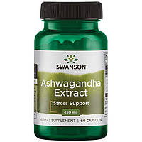Екстракт Ашваганди, Swanson, Ashwagandha Extract, 450 мг, 60 капсул