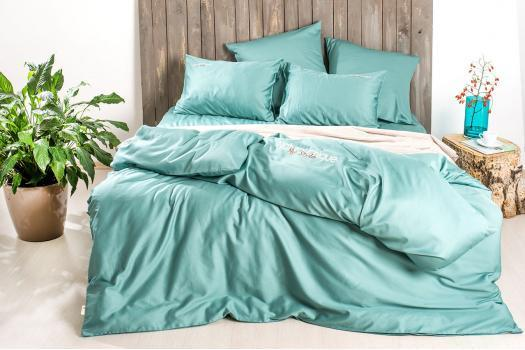 Комплект постельного белья Natural Chique сатин Мята ТМ Идея (Евро)