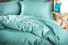 Комплект постельного белья Natural Chique сатин Мята ТМ Идея (Евро), фото 2