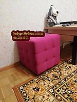 Пуф с прошивкой цвет фуксия Квадро, фото 1
