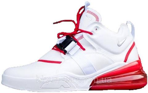 a232e3b6 Топ продаж Мужские кроссовки Nike Air Force 270 White Red (найк аир форс 270,  белые/