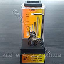 Фреза R3, d6 для обрезки кромки ПВХ и АБС с подшипником