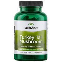 Траметес разноцветный, Swanson, Turkey Tail Mushroom, 500 мг, 120 капсул