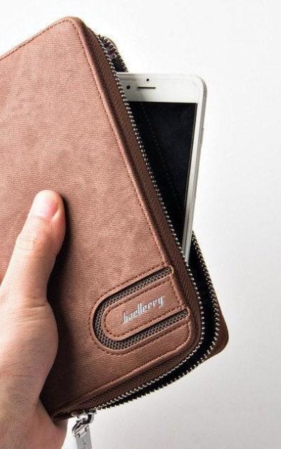 Мужской кошелек, портмоне Baellerry S1514 Coffe коричневый