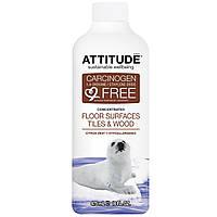 ATTITUDE, Концентрированное средство для поверхности пола, плитка и дерево, цедра цитрусовых 16 жидких унции (475 мл)
