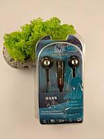 """Вакуумные наушники с микрофоном для мобильного телефона и различных плееров, Фирма """"NY"""", 125 см длинна"""