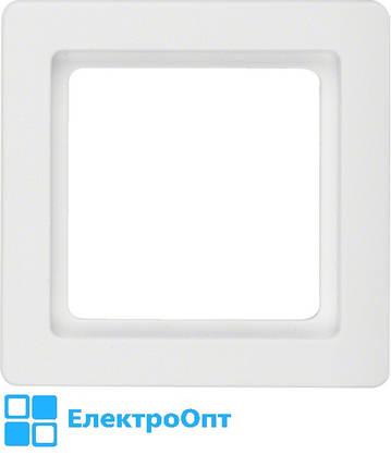 Рамка BERKER Q1, 1-місна, полярна білизна, оксамит 10116089, фото 2