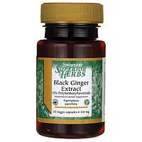 Экстракт черного имбиря, Swanson, Black Ginger Extract, 100 мг, 30 капсул