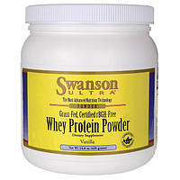 Сывороточный протеин (ваниль), Swanson, Vanilla Whey Protein Powder, 420 г