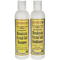 Шампунь/кондиционер с Гималайской кристаллической солью, Swanson, Himalayan Crystal Salt Shampoo/Conditioner Combo, 250 мл