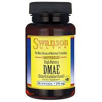 Высокоэффективный DMAE, Swanson, High Potency DMAE, 250 мг, 30 капсул