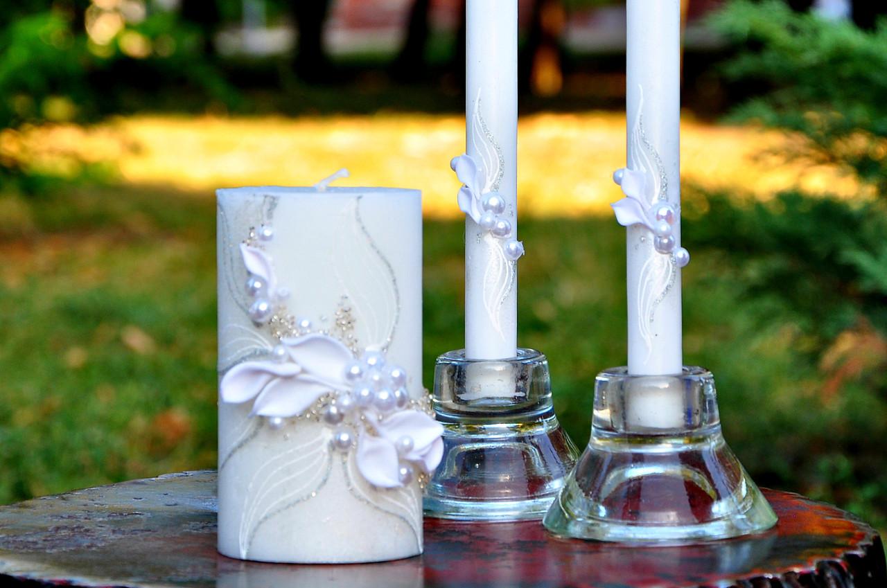 """Свадебные свечи """"Семейный очаг"""" , белый"""