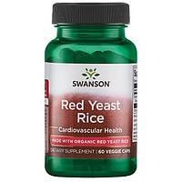 Красный дрожжевой рис, Swanson, Traditional Red Yeast Rice, 600 мг, 60 капсул