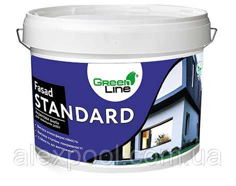 Фасадная акриловая краска ТМ Green Line FASAD STANDARD 3 л