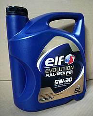 Моторное масло Renault Duster 2 Elf 5w30 Full-Tech FE (5л)(высокое качество)