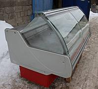 Холодильная витрина гастрономическая «Технохолод Джорджия» 2 м. (Украина), очень широкая выкладка 86 см, Б/у, фото 1