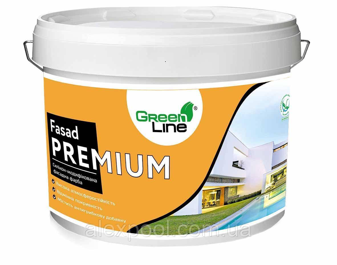 Силикон-модифицированная фасадная краска ТМ Green Line FASAD PREMIUM 3 л