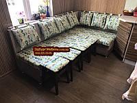 Кухонний куточок зі спальним місцем і табуретами, фото 1