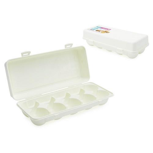 Контейнер для хранения яиц, 10 ячеек, пластик, белый