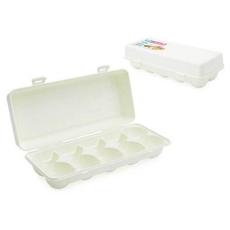Контейнер для хранения яиц, 10 ячеек, пластик, белый, фото 2