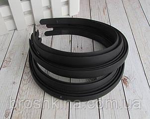 Обручи для волос каучук ширина 1.2 см черные 12 шт/уп
