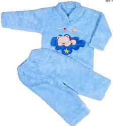 Пижама махра голубая