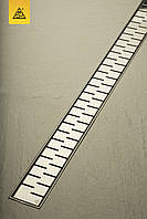 Душовий канал МСН з корпусом із нержавіючої сталі, решітка Медіум L950 мм, випус DN50