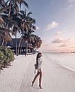 Пляжная туника из хлопкового кружева, фото 6