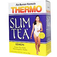 Hobe Labs, Чай для похудения Термо-слим, лимон, 24 пакетика, 48 г