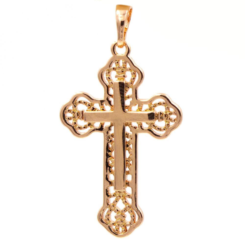 Подвеска Крестик 3,1 см (Медицинское золото)
