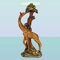 Журнальный стеклянный стол, кофейный столик статуя Жираф (Б)