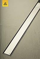 Душовий канал МСН з корпусом із нержавіючої сталі, решітка Класік (під плитку) L1050 мм, випус DN50
