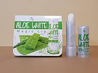 Помада-  бальзам меняющая цвет,  для губ Aloe Vera White 99%/ Корея /  3.2 гр