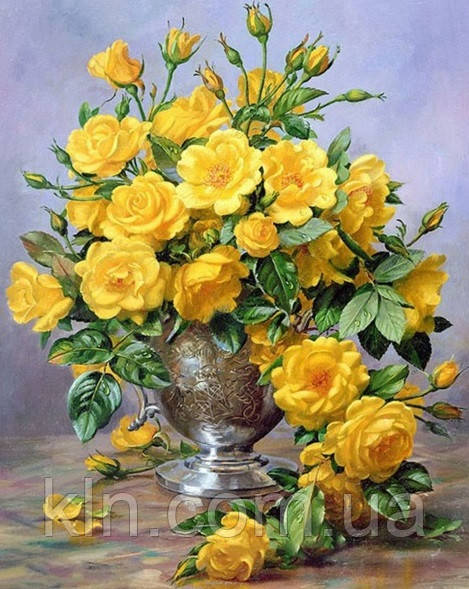 Алмазна мозаїка Улюблені троянди від коханого на подрамнику 30 х 40 см (арт. TN164)
