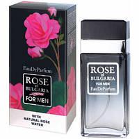 Духи Rose of Bulgaria мужские c розовой водой, 60 мл