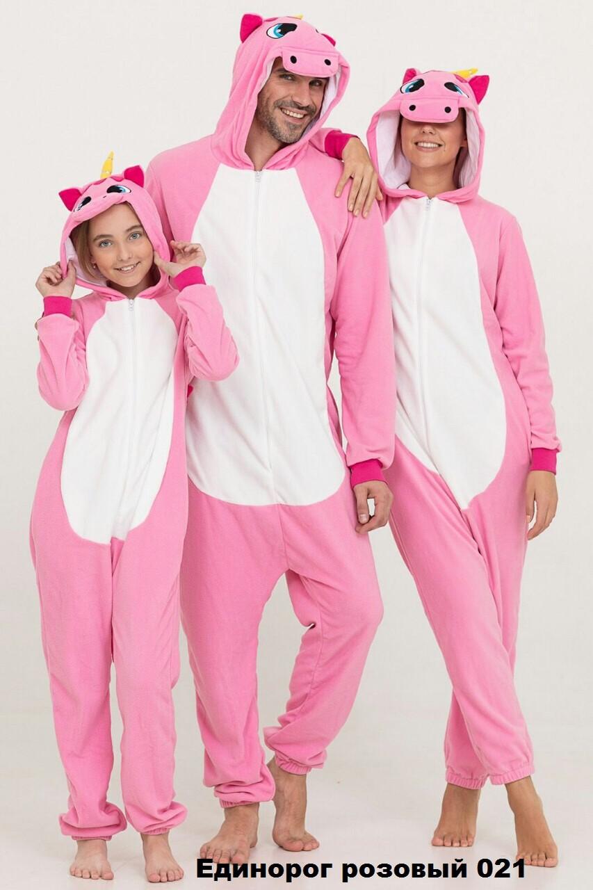 Кигуруми Единорог розовый детская