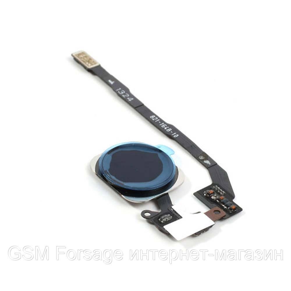 Шлейф iPhone 5S центральная кнопка Home Complete Black
