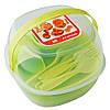 Набор туристической посуды  GreenCamp салатовый (6 персон)