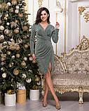 Очень красивое женское вечернее платье из стрейчевого люрекса 44-50р.(4расцв), фото 9