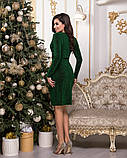 Очень красивое женское вечернее платье из стрейчевого люрекса 44-50р.(4расцв), фото 3