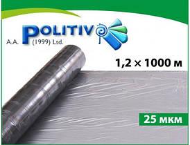 Пленка мульчирующая POLITIV E1144 серебристо-черная (25мкм) 1,2х1000м