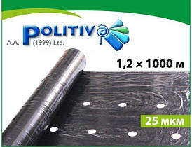 Пленка мульчирующая POLITIV E1103 черная (25мкм) перфорированная 30 * 25 1,2х1000м