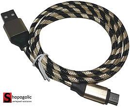 USB Кабель с Цветной Оплеткой для Зарядки Смартфона 1м